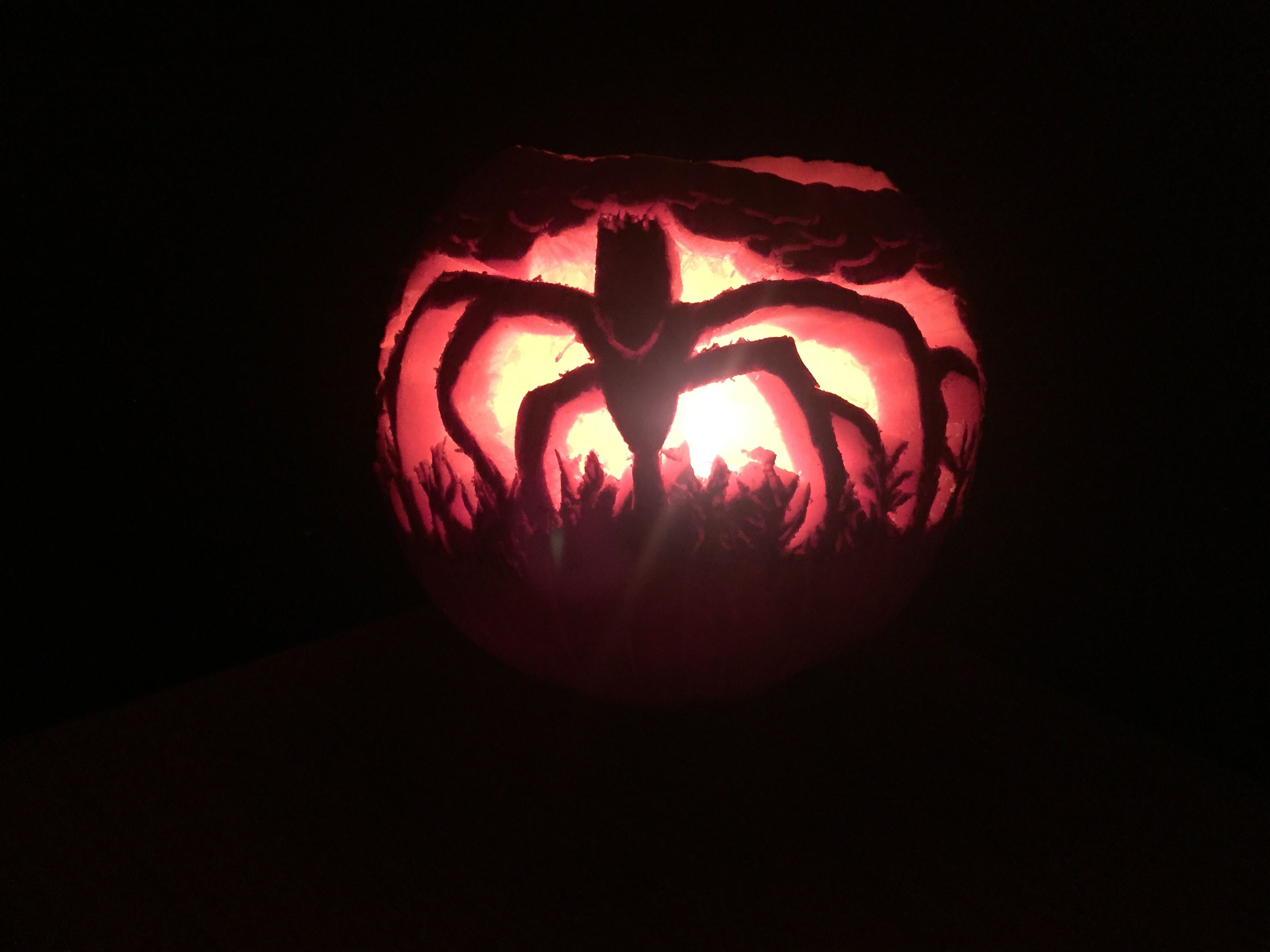 pumpkin template stranger things  Stranger things pumpkin carving of Wills Monster by Tanya ...