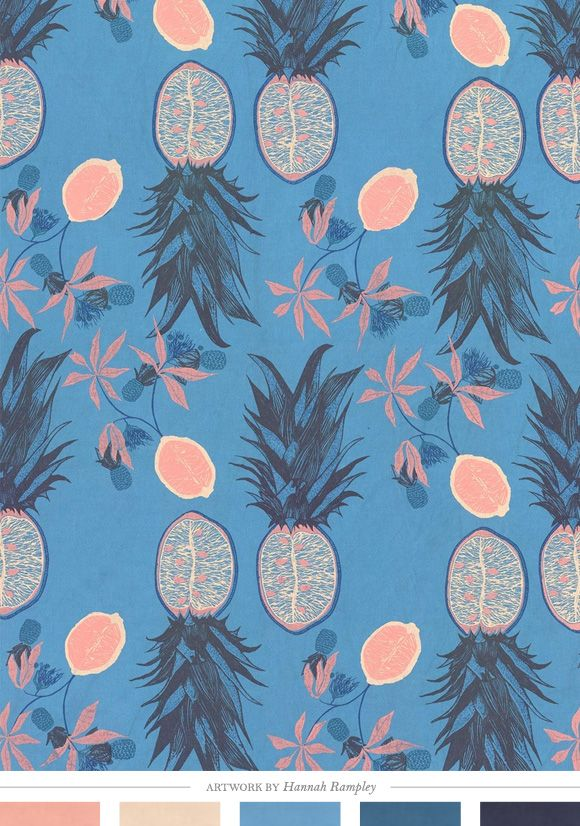 Pineapples. Color Inspiration Daily: Creature Comforts blog.