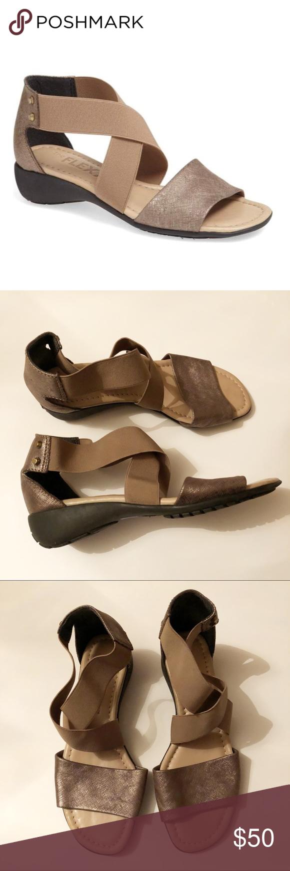 Elastic Sandal | Ankle strap sandals