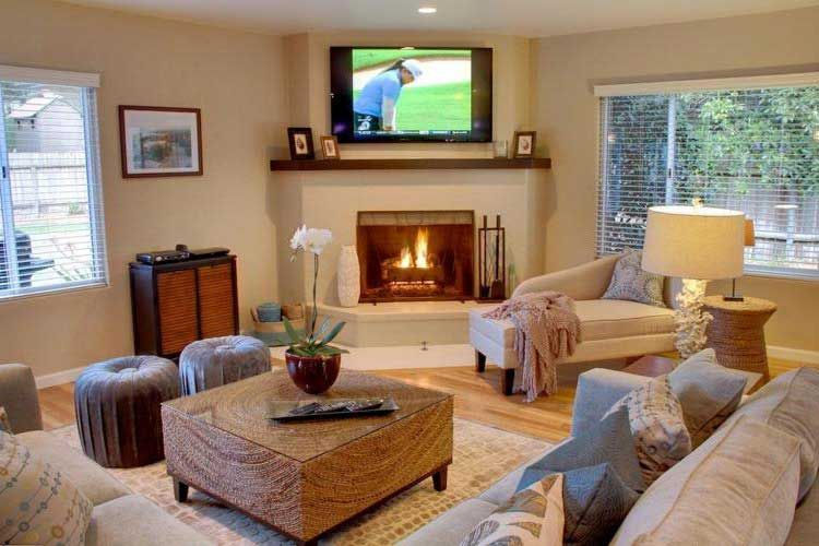 50 Best Corner Fireplace Ideas In The Living Room 7 Corner Fireplace Living Room Furniture Placement Living Room Living Room With Fireplace