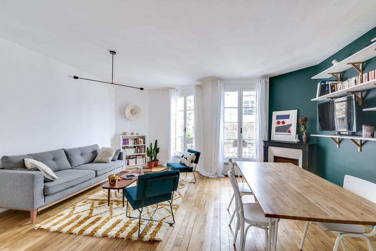 Couleur Salle De Sejour salon vert : tendance couleur | salon vert, salle de sejour