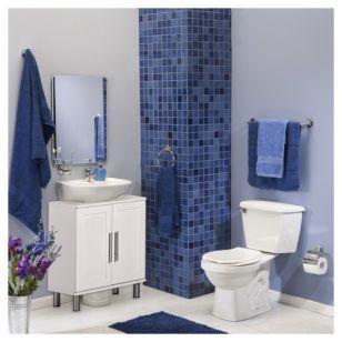 Combo Sanitario Trevi + Lavamanos con Pedestal + Mueble Vanitorio