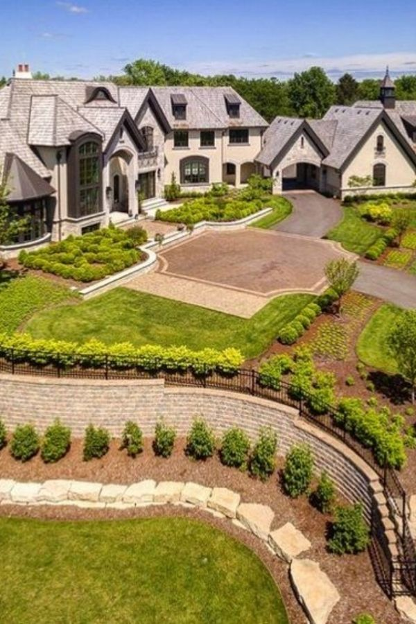 Different Architectural Styles Exterior House Designs: Elegant 21,000 Sq Ft Mansion Located In Chicago Features 6