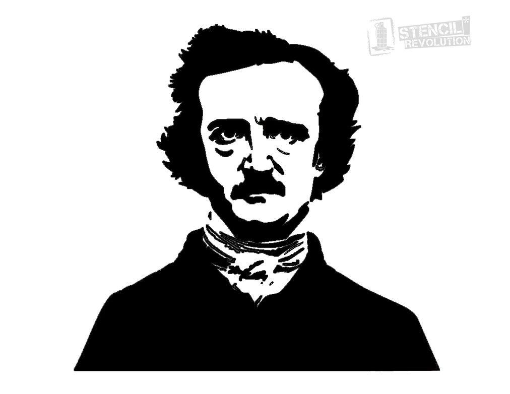 Edgar Allan Poe Stencil And More Edgar Allen Poe Edgar Allan
