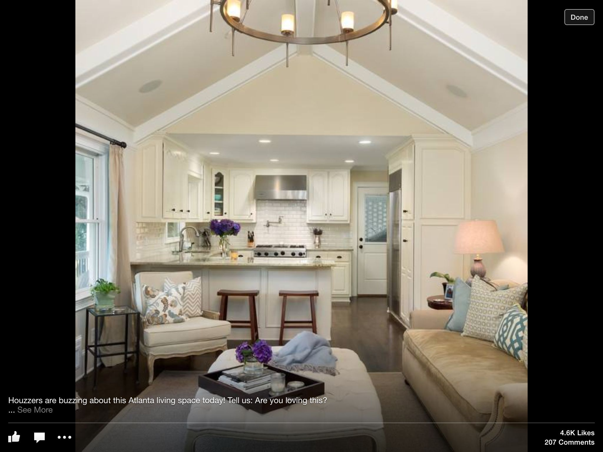 Living Room And Family Room Combo Part - 35: ... Kitchen Family Room Combo Living Space Inspiration Pinterest ...