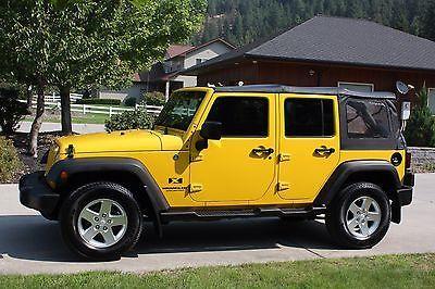 2008 Jeep Wrangler 2008 Jeep Wrangler Yellow Jeep Yellow Jeep Wrangler