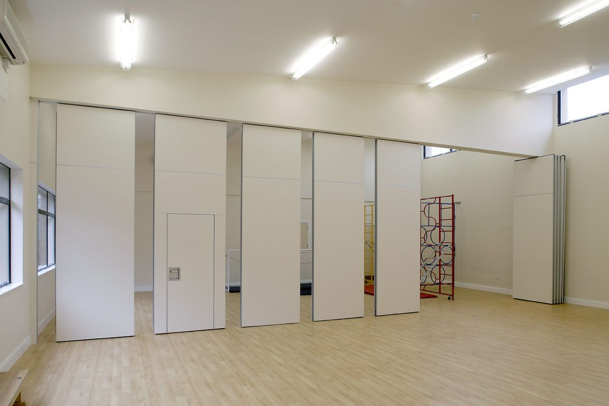 This acoustic partition operable wall was perfect to for Acoustic folding partitions