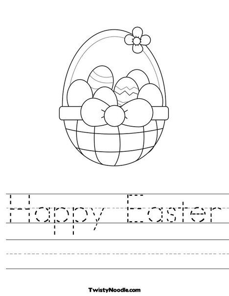 Happy Easter Worksheet | Classroom ideas | Pinterest | Easter ...