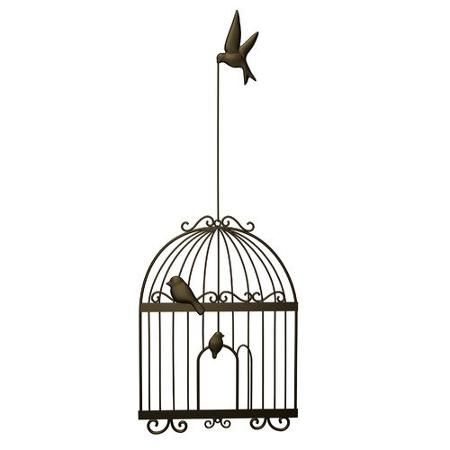 Plastec Bird Cage Wall Decor