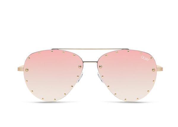 97650a2129c0e Quay Jaclyn Hill  QUAYXJACLYN Roxanne Gold Sunglasses   Rose Lenses ...