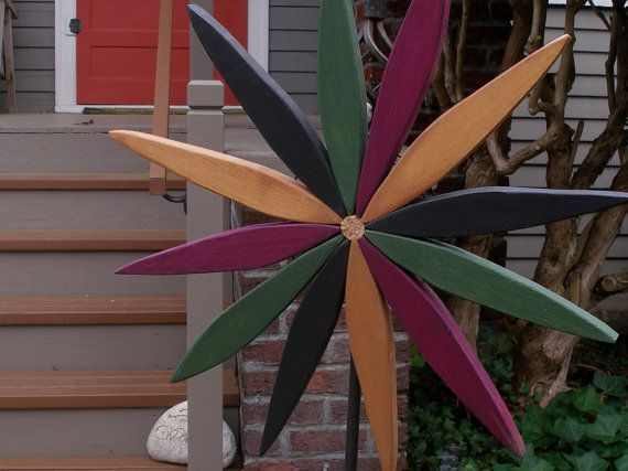 For your outdoor and indoor decorating this year consider my colorful wooden folk art style starburst wreath made from reclaimed pine.  The…