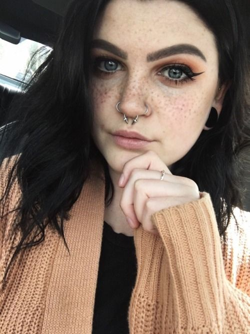 Image Result For Septum Ring Tumblr Freckles Nose Piercing