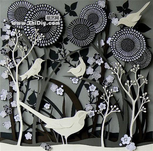 Libro de corte / corte / papel / esculturas de origami boutique de aprecio