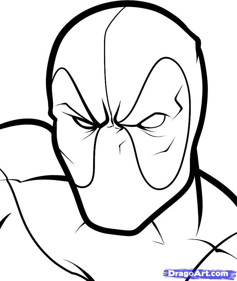 Hulk Face Line Drawing : Deadpool coloring pages trends for lego… jims