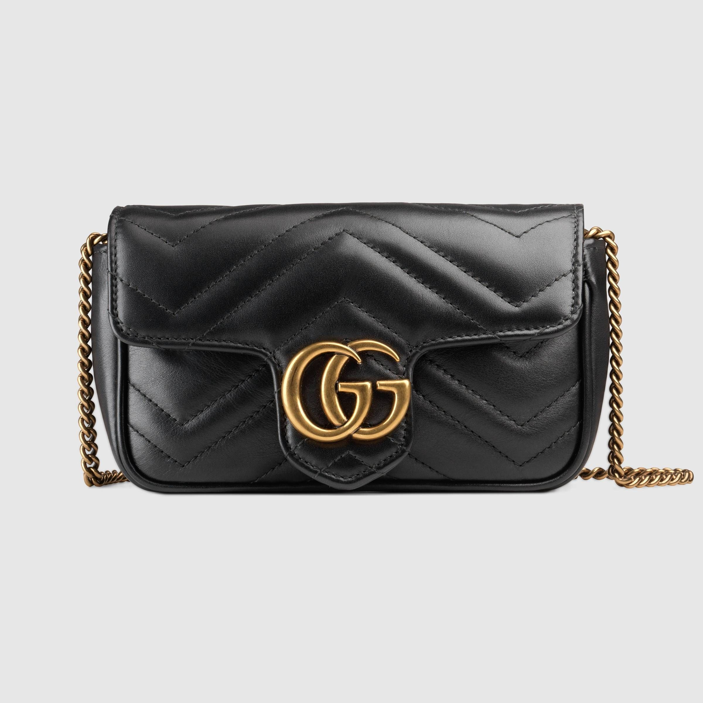 12e7acf34883 GG Marmont matelassé leather super mini bag - Gucci Women's Mini Bags  476433DSVRT1000