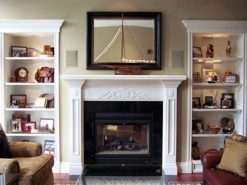Fireplace With Bookshelves On Both Sides Bookshelves Have