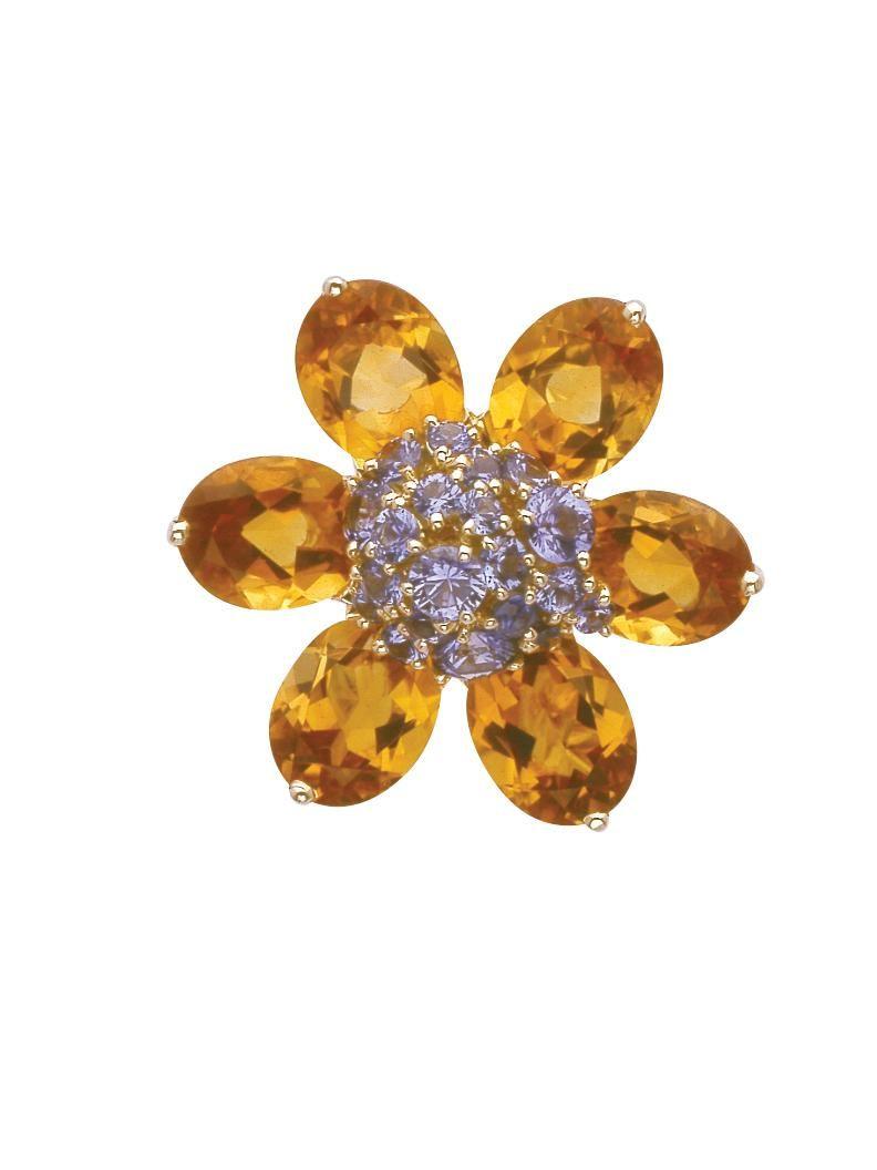 Van Cleef & Arpels 18k Hawaii Flower Clip at London Jewelers!