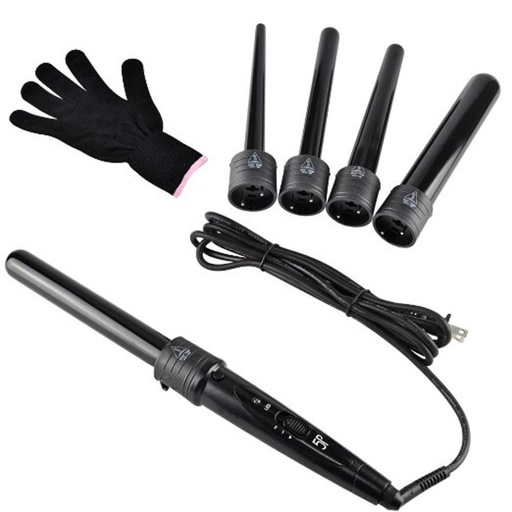 Mm pro series in curling wand set hair curling tong pcs