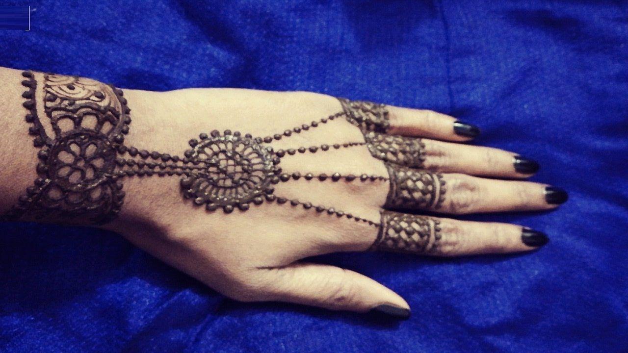 Henna Jewellery Mehndi : Jewellery style henna mehndi design 2017 hand pinterest