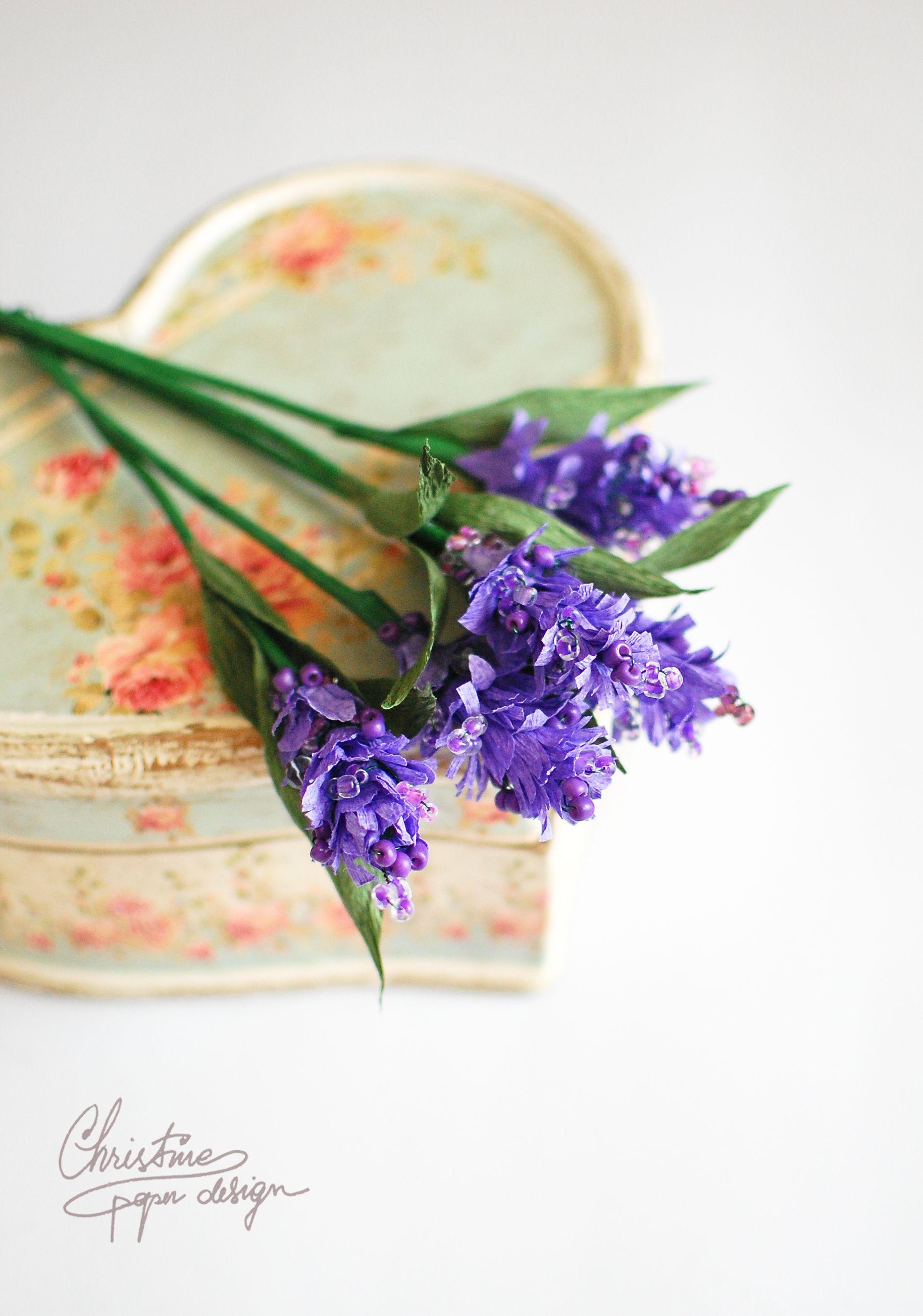 Diy Paper Flowers Paper Lavender Hand Made Pinte