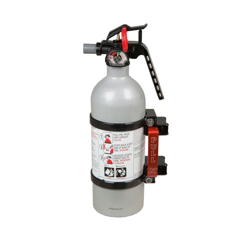 Axia Alloys Black Quick Release Fire Extinguisher Mount w// 2.5 Red Extinguisher