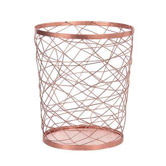 Corbeille Papier En Fil M Talliques Cuivr 26x30cm Alliage Small Trash Can Candle Holders Trash Can