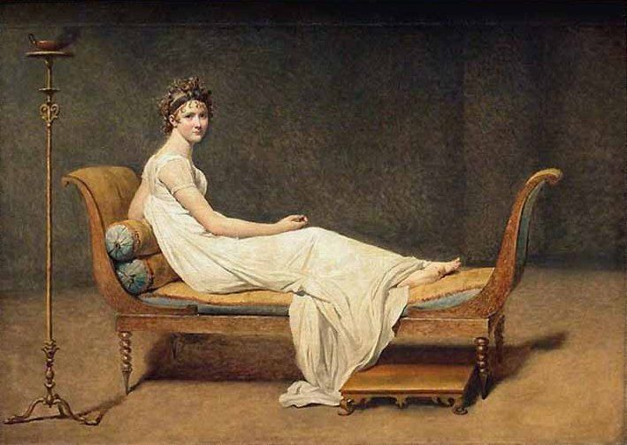 Madame Recamier By Jacques Louis David She Was An Influent Person And Like Her Friend Mme De Stael She Wa Pintura Neoclasica Museo De Louvre Arte Neoclasico