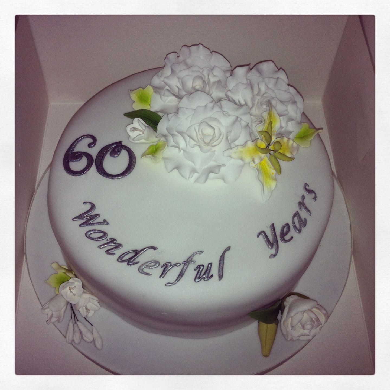 Like the writing on the cake. 60 Wonderful Years