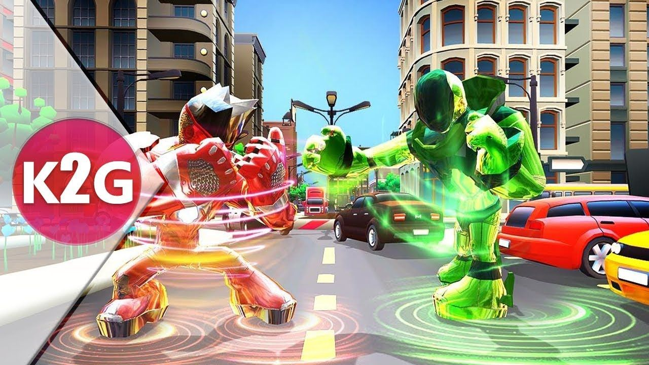 Iron laser robots future fighting shooting bots android