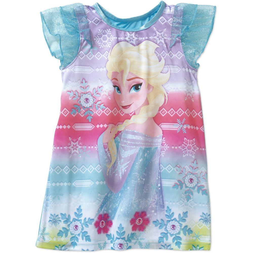 6efe19b044d5 Toddler Girls Disney Frozen Elsa Fancy Nightgown Pajama Dress New with Tag  Sz 5T  Disney  Nightgown