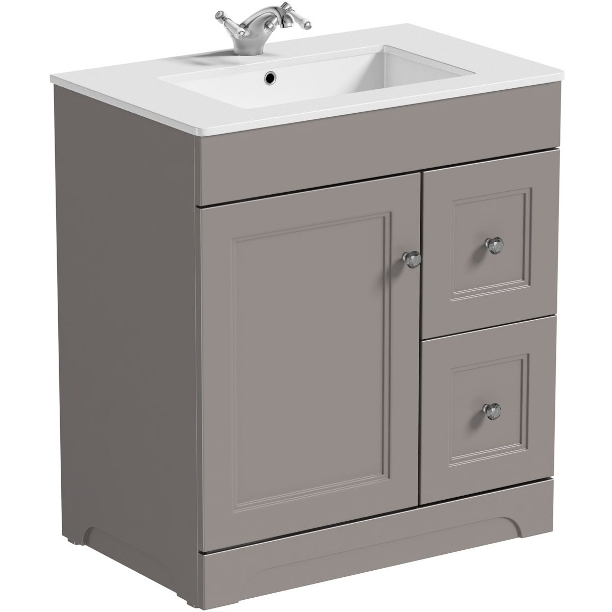 The Bath Co Winchester Graphite Grey Floorstanding Vanity Unit