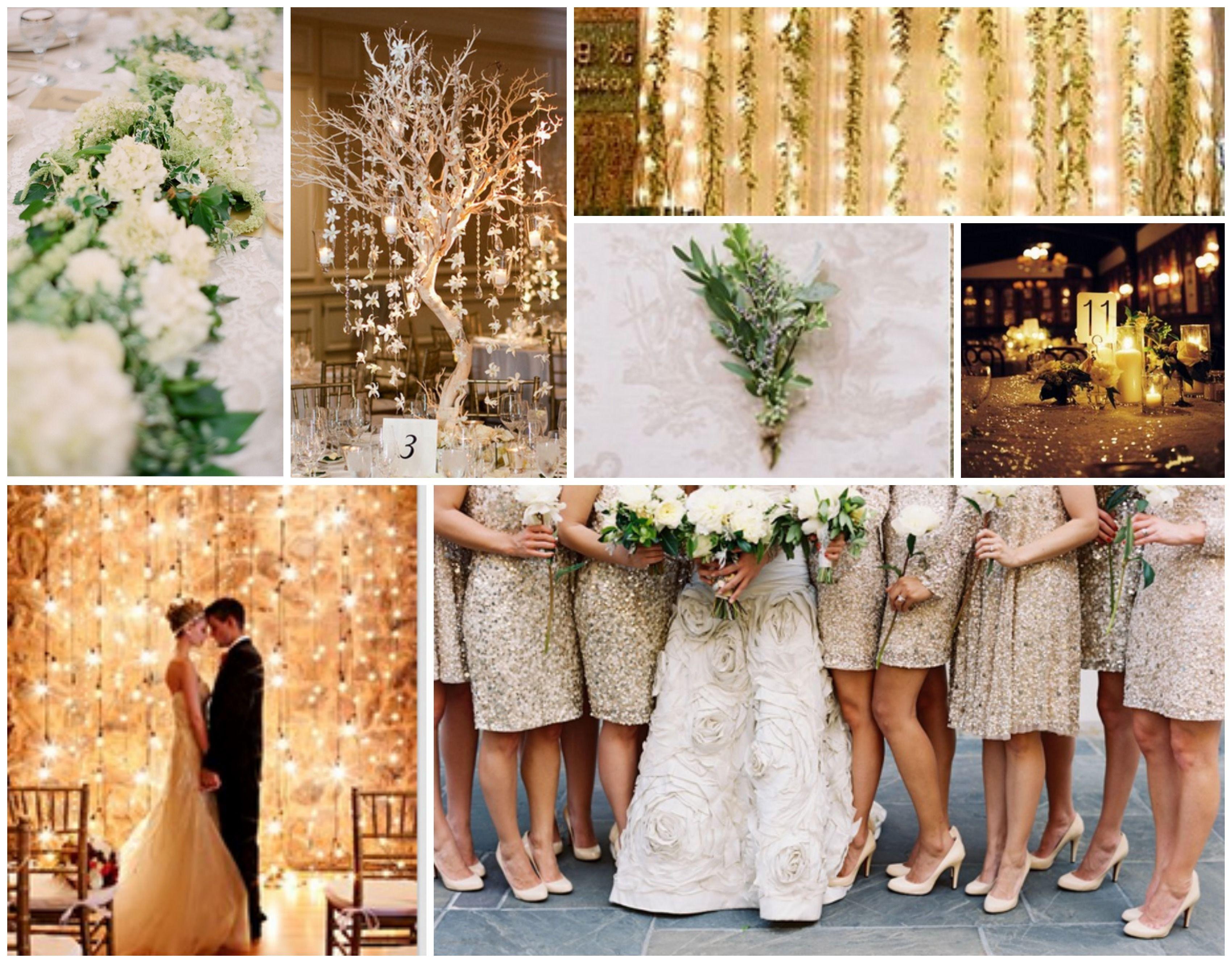 our wedding themecream gold green troues dekor