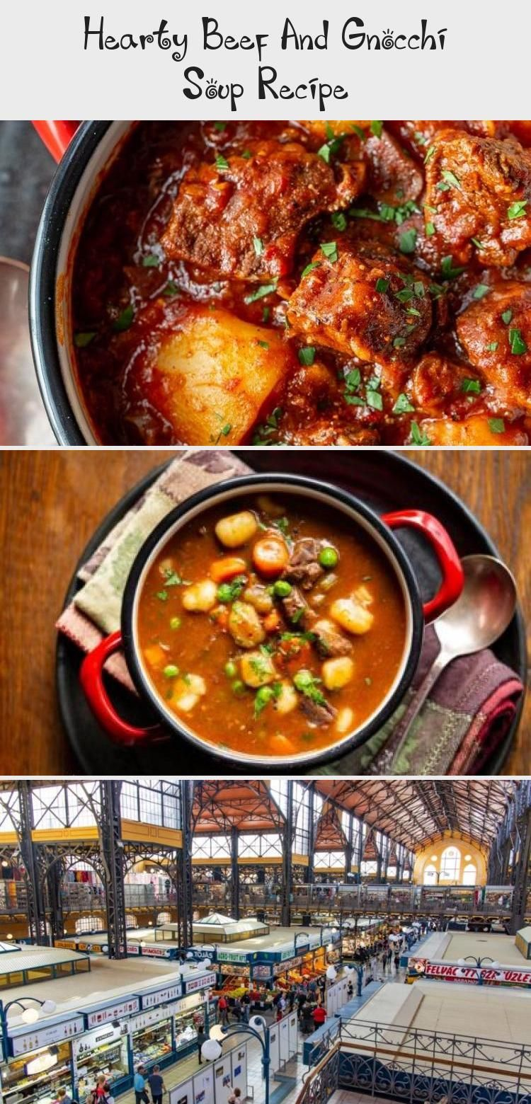 Hearty Beef and Gnocchi Soup is a warming and delicious chunky soup worthy of an entire meal Serve with crusty bread to sop up all the delicious broth