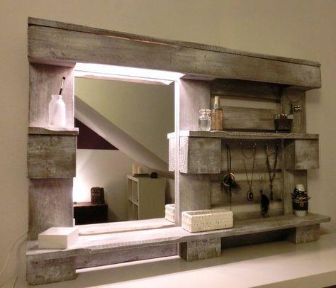 wand-regal-paletten-spiegel-beleuchtung | Bauen und Basteln ...