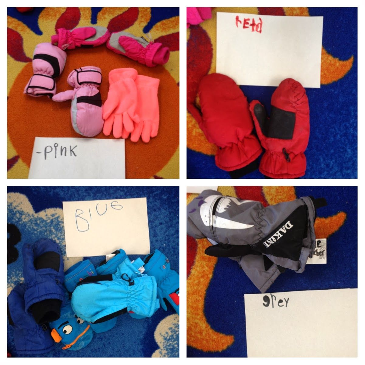 Sorting And Graphing Mittens In Kindergarten