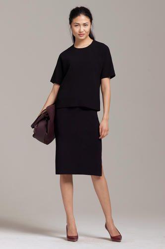 60eedc91bfdac Vreeland top and Woolf skirt Professional Women, Wardrobe Basics, Office  Fashion, Black Tops