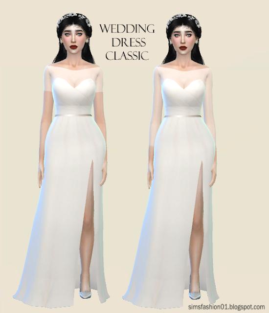 Sims Fashion01: SimsFashion01 - Satin Wedding Dress (The Sims 4 ...
