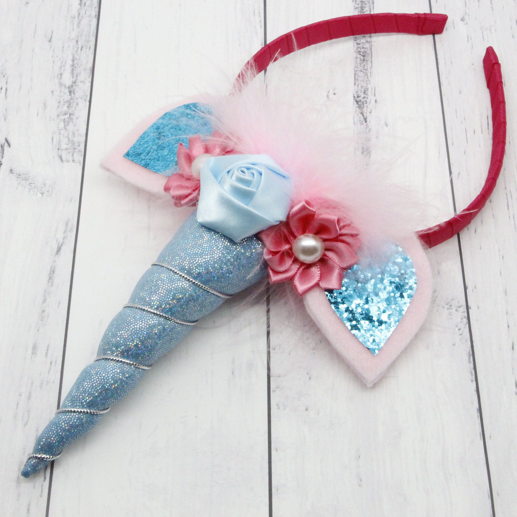 Party Outfit. Mermaid Hair Accessory Girls Unicorn Horn Headband