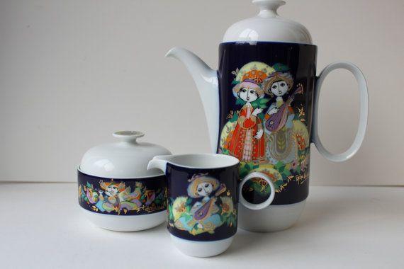 Rosenthal Bjorn Wiinblad. 1001 Nights Series Coffee by foxbride