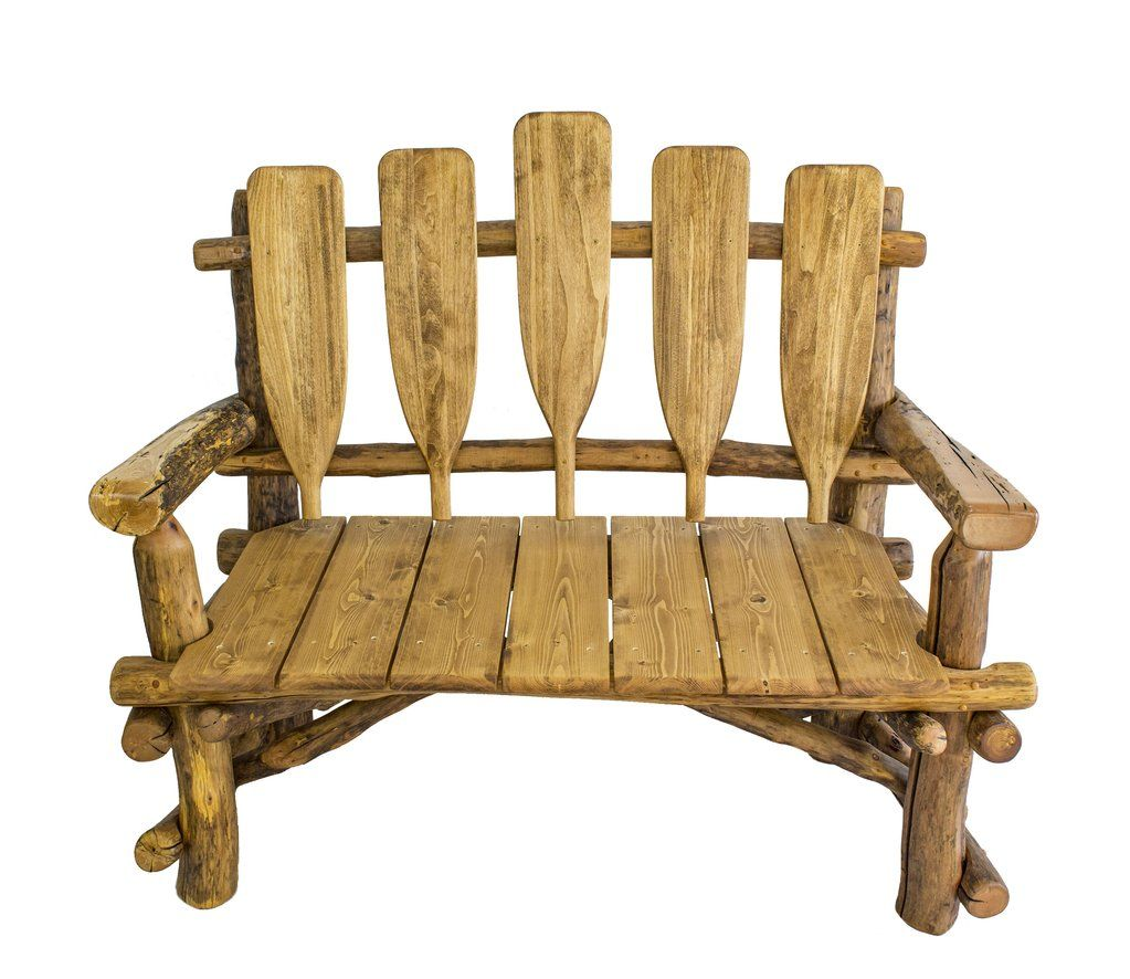 Canoe Paddle Bench Rustic Outdoor Furniture Western Furniture
