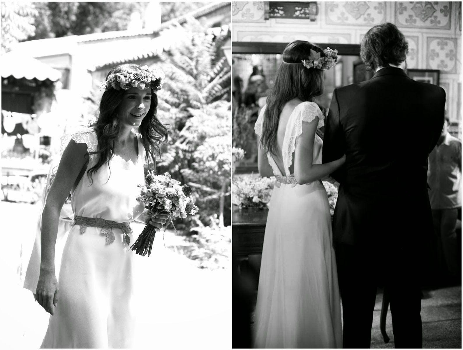 Bárbara, una novia con corona de flores | AtodoConfetti - Blog de ...
