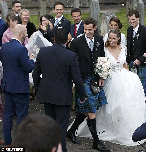 Pin On Andy Murray And Kim Sear S Wedding
