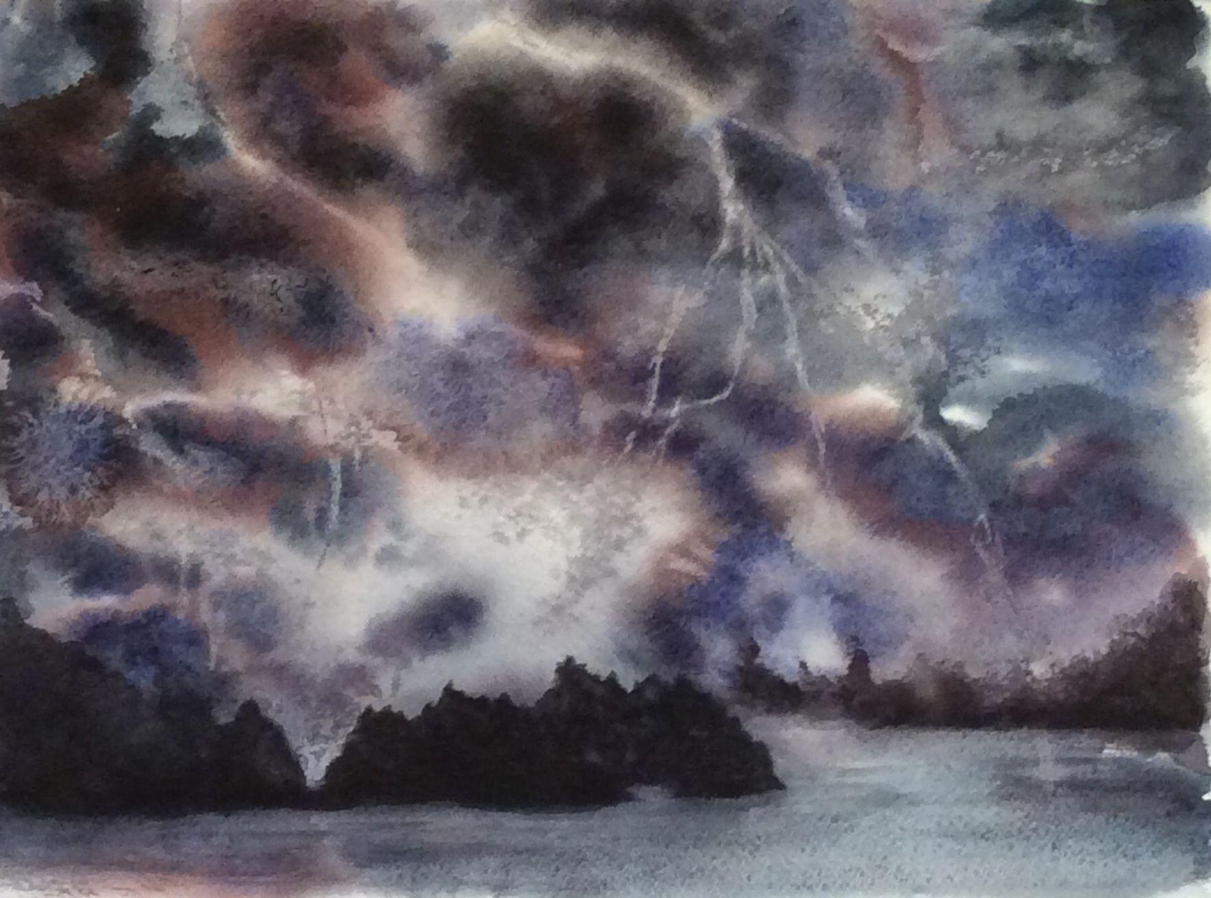 Ciel Nuages Eclairs Orage Mer Paysage Ciel Nuages Eclair Orage