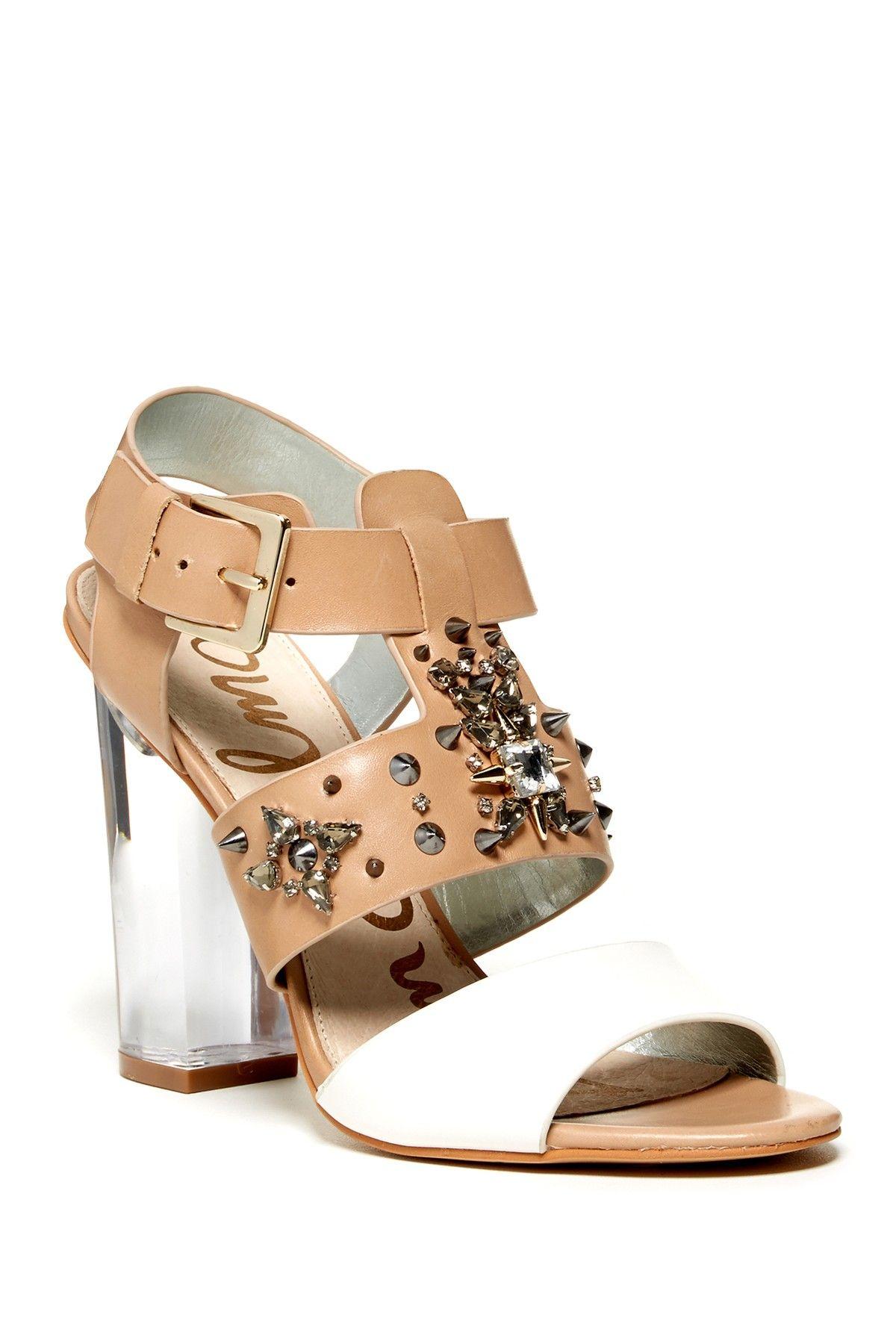 ccbc564070 Sam Edelman | Yara Clear Heel Sandal | h e e l s | Clear heels ...