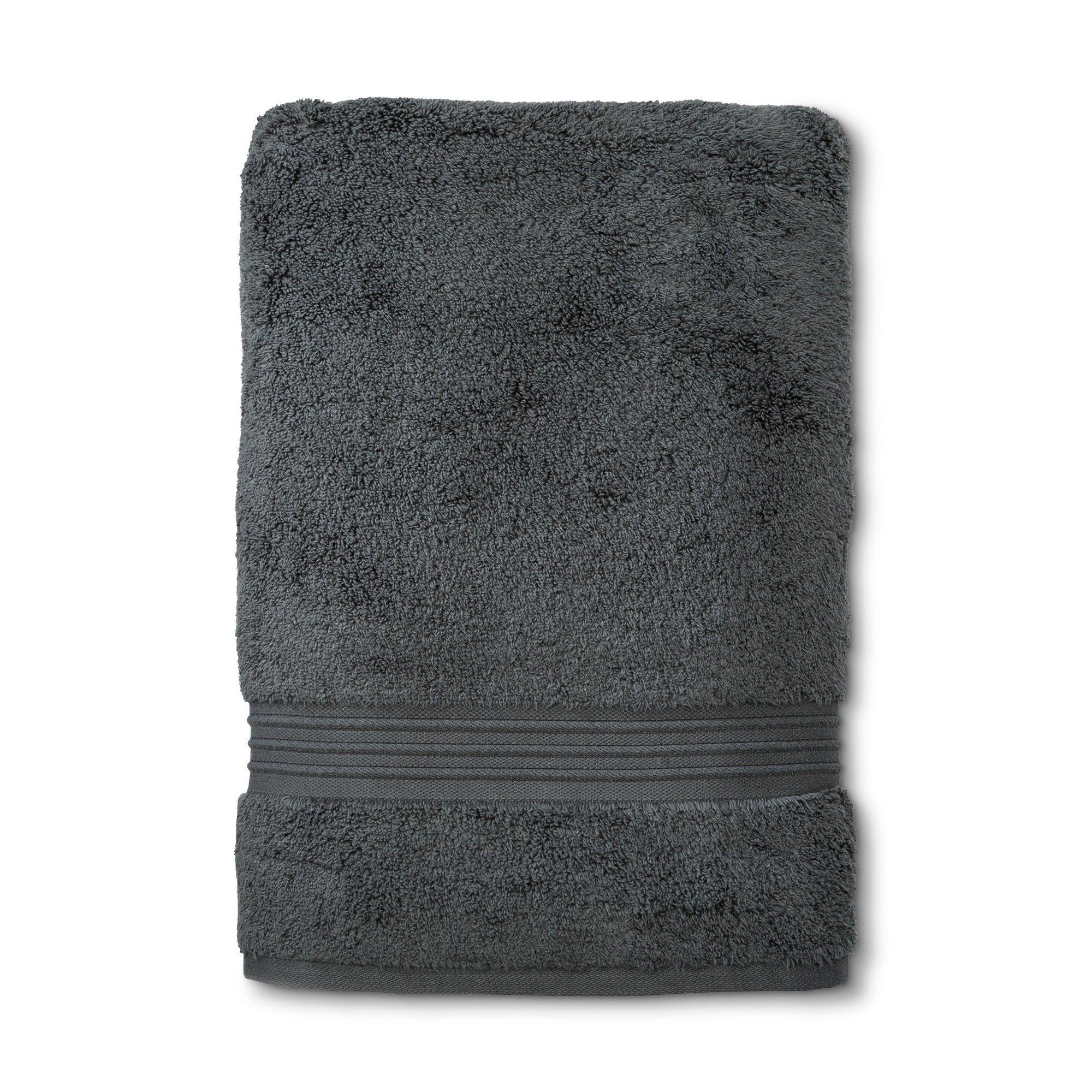 Spa Stripe Bath Sheet Dark Gray Fieldcrest In 2020 Bath Sheets