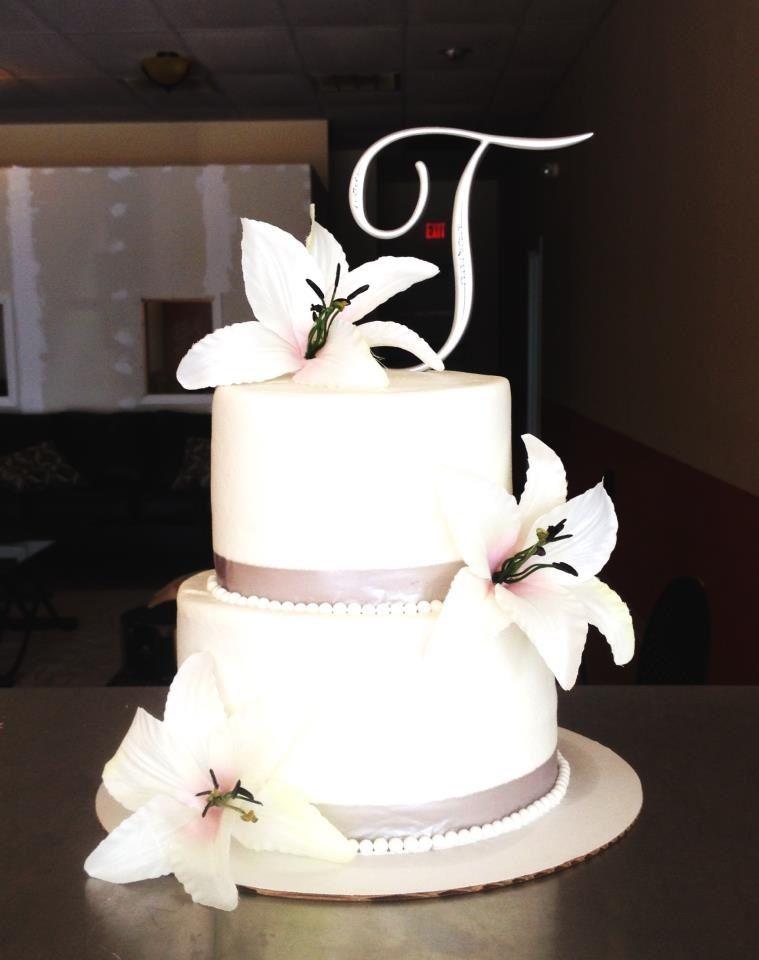 Simple Silver Wedding Cake Bake Your Day Llc Alexandria La Www Facebook