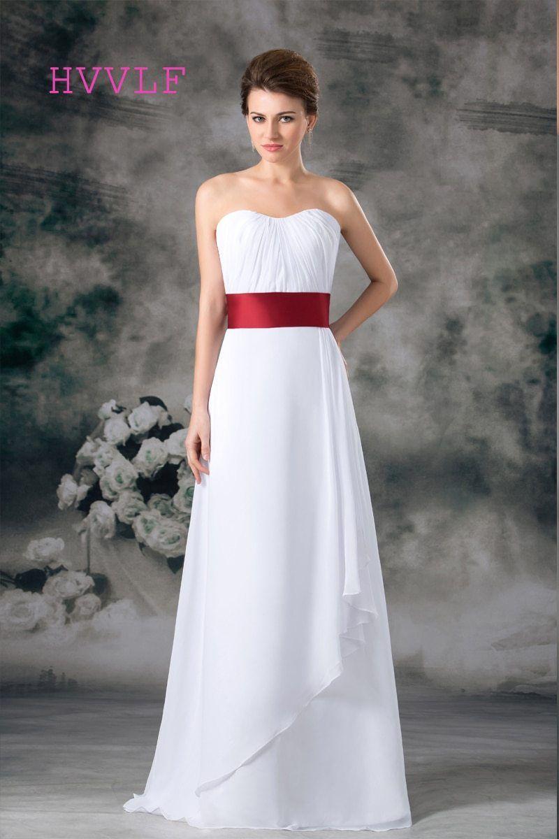 0ec7249014 Cheap 2019 Wedding Dresses A-line Sweetheart Floor Length Chiffon Sash Boho Beach  Wedding Gown Bridal Dresses Vestido De Noiva