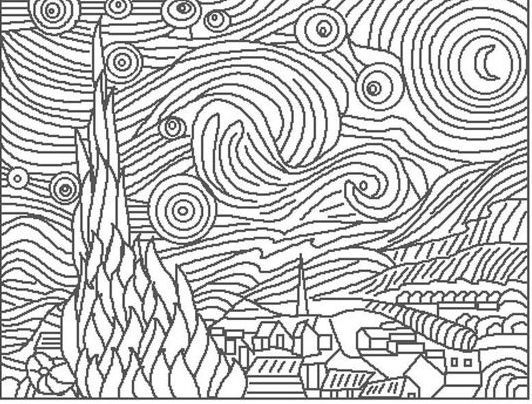 Artwork Coloring Pages Background