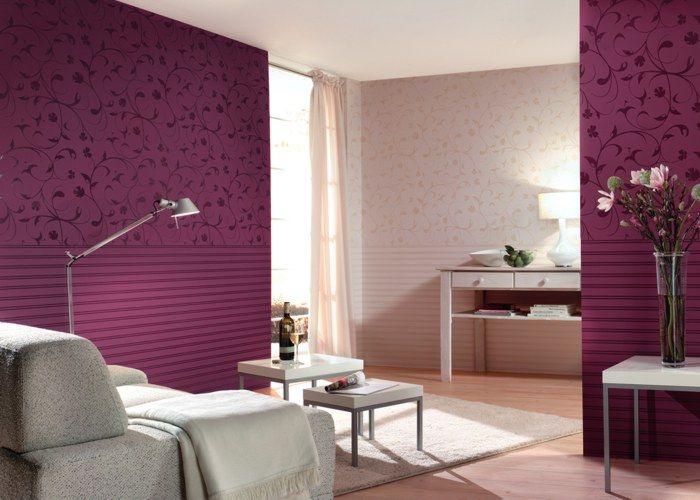 Romantische Tapeten   Flock II   Raumbilder   Florale Illusion - tapeten und farben