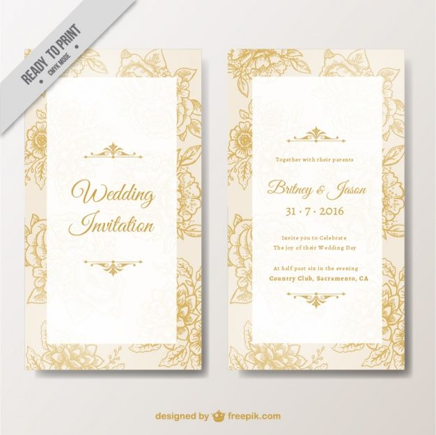 Download Elegant Wedding Invitation With Floral Elements For Free Elegant Wedding Invitations Wedding Invitations Invitations